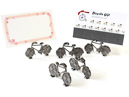 5個入り 自転車 結婚式 パーティ用 テーブルナンバー スタンド 席札 メッセージカード ミニ