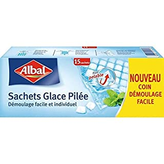 Albal 15 Sachets Glace Pilée, Fermeture Automatique, Film Pelable, Démoulage Facile, 65 Cubes par Sachet - Lot de 3 (B017W3QA2E) | Amazon price tracker / tracking, Amazon price history charts, Amazon price watches, Amazon price drop alerts