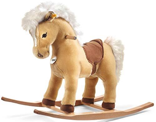 Steiff 48906 - Franzi, Peluche Pony en balancín, Color marrón Claro