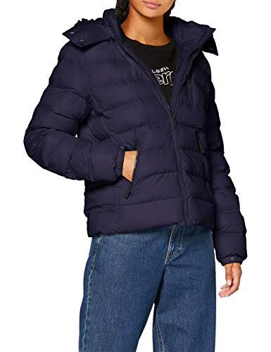 Superdry Damen Summer Microfibre Jacket Jacke, Blau (Atlantic Navy GKV), S (Herstellergröße:10)