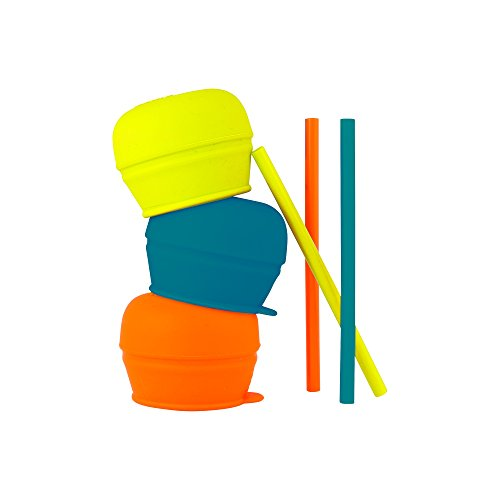 SNUG STRAW - Deckel & Strohhalm (3er Pack), das kleckerfreie Becherset für daheim und unterwegs. Für Kinder ab 12 Monaten, BPA-, Phthalat- und PVC-frei, das perfekte Geschenk für Eltern