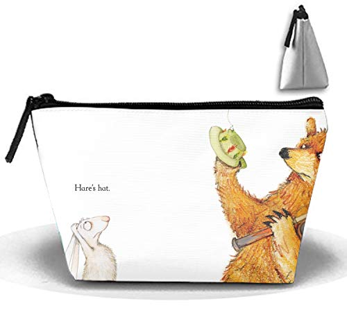 Bear Hare Go Fishing Toiletry Bag, Travel Makeup Pouch Sundry Bag, Cosmetics Organizer Bag for Men and Women