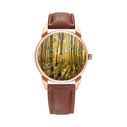 Fashion Quartz Watch Men Watches Top Brand Luxury Male Clock Business Mens Wrist Watch Aspen Trees in Autumn Wristwatches -  AIMAS, Y396-145