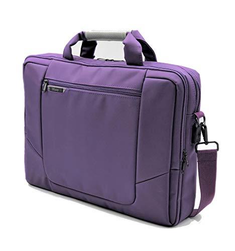 BIZEY Purple 17 Inch New Laptop Netbook Bag Shoulder Messenger Case Charging Port