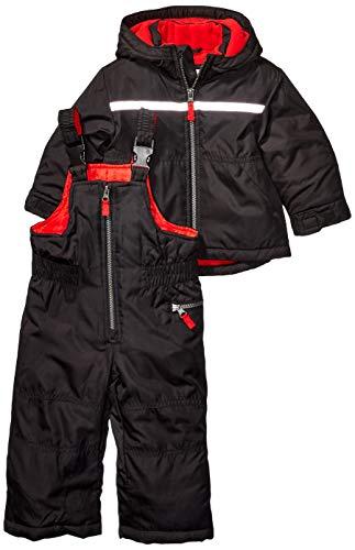 Carter's Boys' Baby Heavyweight 2-Piece Skisuit Snowsuit, Very Black/Melinda Red, 12 Months