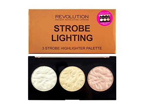 MAKEUP REVOLUTION Strobe Lighting Palette - Highlighter mit 3 Nuancen für Glow und Contouring - vegan, glutenfrei und tierversuchsfrei - 11 g