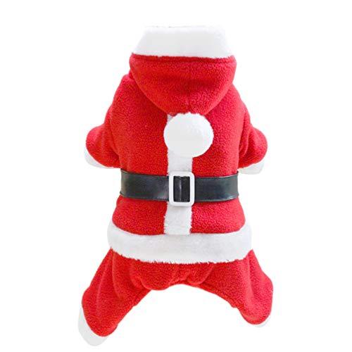 Balacoo Costumi di Natale per Animali Costume da Cane con Cappuccio Costume da Babbo Natale Cane Felpe con Cappuccio Gatto Costumi di Natale Taglia XXL