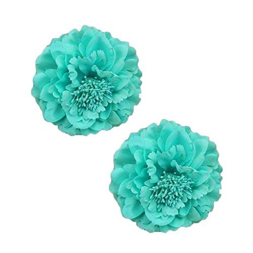 2PCS élégant fleur cheveux cheveux clip décoration pour les dames, le lac bleu
