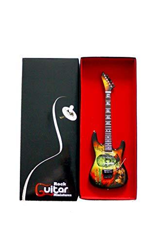 RGM126 Kirk Hammett Mummy - Guitarra en miniatura (incluye correa de cuero para guitarra)