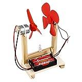 Hztyyier Modello Giocattolo Fai-da-Te con Kit Unico generatore di energia in Legno con Il Giocattolo educativo dell'azionamento Elettrico 1.5V per Bambini Giocattolo educativo