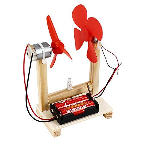 Hztyyier Modelo de Juguete de Bricolaje con Kit de generador de energía único de Madera con Juguete Educativo de accionamiento eléctrico de 1.5V para niños Juguete Educativo
