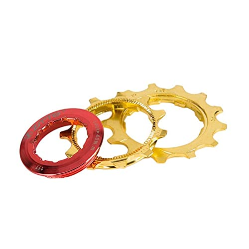 YOBAIH Rueda Libre 10S 11-42T Cassette Gold 10 Velocidad Freewheel Aluminio Acero MTB Bicicleta de montaña Bicicleta Steel Golden Sprockets Partes de Bicicletas (Color : 10s 11 42t)