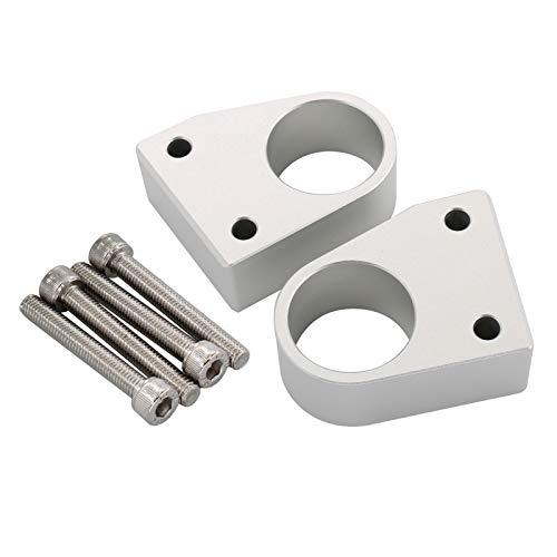 TISHITA 6 piezas de aluminio elevadores del manillar de la motocicleta montaje altura arriba adaptadores modificados montaje Kit de extensión para