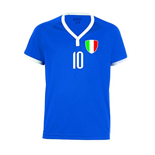 nationshirt Italien Trikot BR 10 Royal - B-W-R - Hose + Stutzen WM 2018 World Cup Trikot Italia (152)