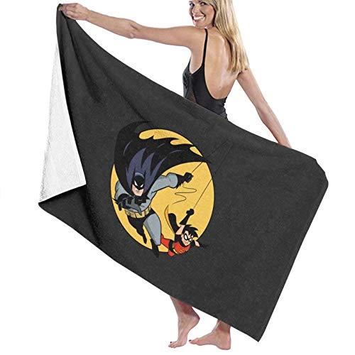 U/K Toalla de baño de Batman y Robin de secado rápido