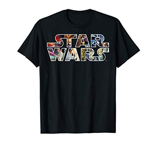 Star Wars Logo Portrait Filled T-Shirt