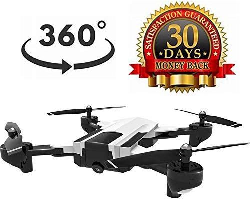 Drone avec caméra pour adultes, hélicoptère, temps vol 22 min, vidéo HD en temps réel avec caméra GPS, vidéo en direct avec GPS, maintien l'altituen mogyroscopique 4 axes, avec batterie intégrée, b