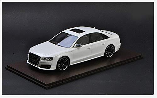 Diecast Model Car 1:18 per Audi A8 S8 Plus 2017 Modelli in lega Scala Giocattolo Auto Metal Metal Model for Miniature Collection Giocattoli per bambini Bambini (Colore: Nero) wmpa ( Color : White )