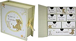 New Baby Gift 9 Drawers for Keepsakes Baby Keepsake Gift My First Mittens Gift Ideas