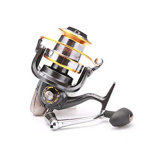 ZZQQ carretes de Pesca Carrete de Pesca Metal LJ 3000-9000 Series 12+ 1 BB Bevel Copa de Agua Dulce Reservo de Agua Dulce señuelo Rueda de Pesca bobinas (Bearing Quantity : 13, Color : Black)