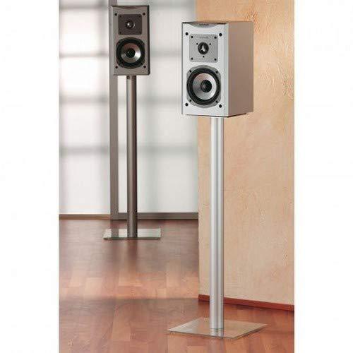 """VCM 2x Surroundstand Stand Alu Halterung Glas Standfuss Boxenständer Lautsprecher Ständer Klarglas \""""Boxero Maxi\"""""""