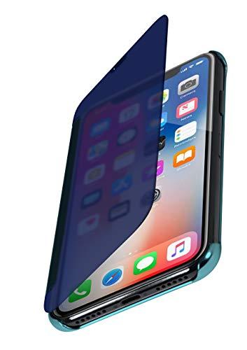 moex Dünne 360° Handyhülle passend für iPhone 11 Pro   Transparent bei eingeschaltetem Bildschirm - in Hochglanz Klavierlack Optik, Türkis