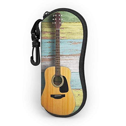 Bonita funda suave para gafas de sol de guitarra para mujeres y hombres, ultraligera y portátil, con mosquetón.