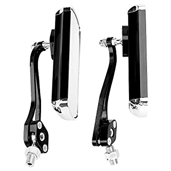 Bicycle Rearview Mirror 1 Pair Bicycle Handlebar Review Mirror for Mountain Road Bikes Cycling Accessories  Black