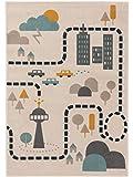 benuta KIDS Kinderteppich Juno Beige 160x230 cm - Teppich für Kinderzimmer