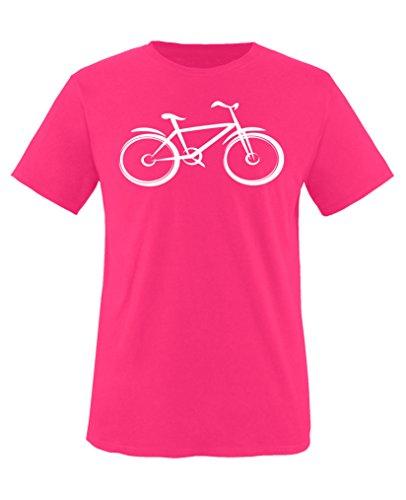 Comedy Shirts - Fitness-Shirts für Mädchen in Pink / Weiss, Größe 110-116