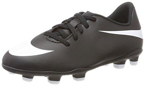 Nike Unisex-Erwachsene JR Bravata II FG Futsalschuhe, Schwarz (Black/White/Black 001), 38.5 EU