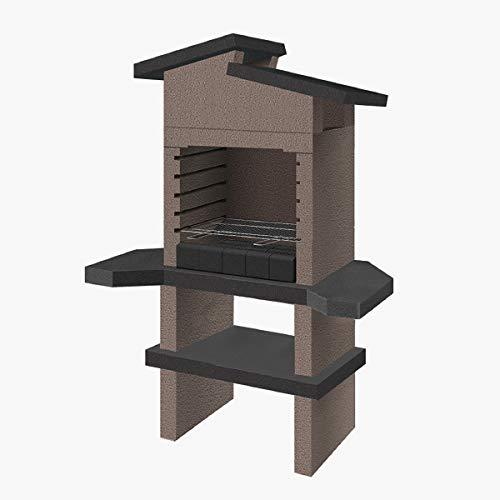 Xodo Store SAROM Grill aus Mauerwerk, Modell Izmir mit Holz und Holzkohle