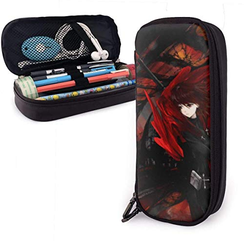 zhengchunleiX RWBY Leather Mäppchen Pen Bag for Girls Boys Kids Adult Pencil Pouch Stationery Storage Bags for School Office