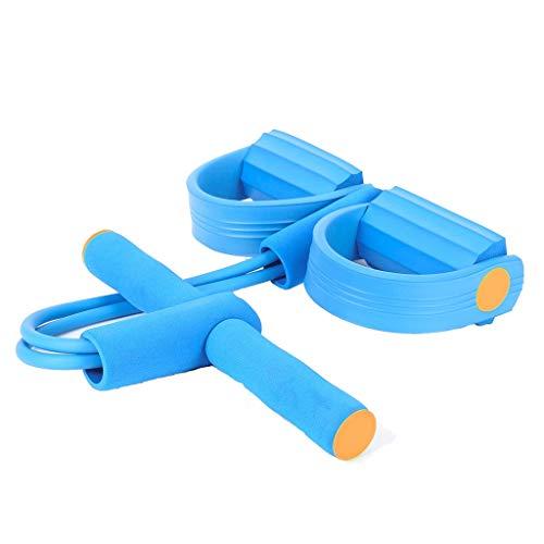 Band ziehen Xingdong Pedal Pull Rope Startseite Yoga Seil Thin Magen Fitnessausrüstung Sit-ups Fitness Rally Frauen und Männer dauerhaft (Color : Blue)