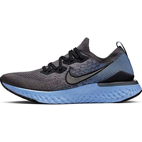 Nike Epic React Flyknit 2 Men's Running Shoe Thunder Grey/Black-Ocean Fog-Ashen Slate Size 9.0
