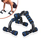 SGODDE Push Up Bars Pushup Handle with Cushioned Foam Grip and Non-Slip Sturdy Structure Portable Push Up Handles for Floor Home Workout Stands for Men Women Strength Training Dark Blue