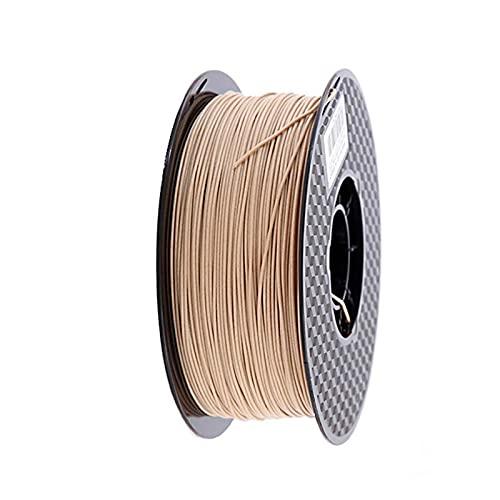 HANLILI kasu Legna PLA Filament 1.75mm Stampante 3D Filamenti Non tossici 500G / 250G / 1KG Sublimazione Sublimazione Effetto in Legno Materiali da Stampa 3D (Color : 250g -Light Wood)