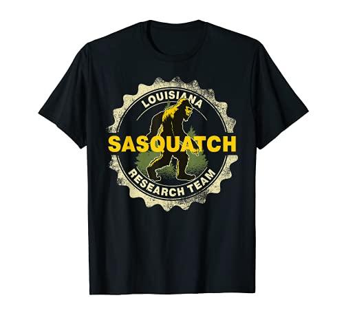Louisiana Sasquatch Equipo de Investigación Bigfoot Believer Fan Camiseta