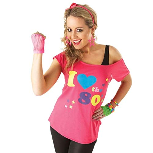 Rubies T-'Shirt I Love The 80's, déguisement Adulte, Taille L