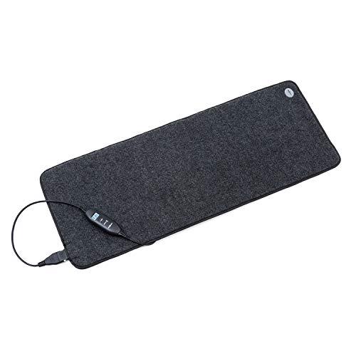 Oneconcept Magic Carpet DLX Alfombra eléctrica - 40 x 98 cm, 180 W de Potencia, 4 Niveles de Temperatura, Temporizador, Pantalla LCD, Antideslizante, Antracita