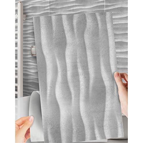 Ancoree Efecto Mármol 30 x 60cm Pegatinas de Pared para la Encimera del Piso del Baño de la Cocina Calcomanías de Muebles Impermeables, Pegatina Multifuncional, 6PCS (J)