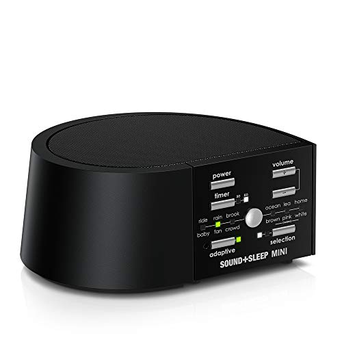 Image of the Sound+Sleep MINI High Fidelity Sleep Sound Machine with AC and Battery Power, Real Non-Looping Nature Sounds, Fan Sounds and White Noise