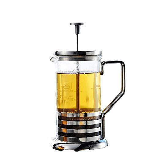 Vobajf Caffettiere a pistone French Press Pot in Acciaio Inox Coffee Pot Vetro tè e caffè Stampa Francese caffè Filtro Premere Pot Filtro Cup cafetieres (Colore : Stainless Steel, Size : 350ml)