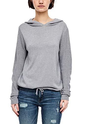 Q/S designed by - s.Oliver Damen 41.912.61.2774 Pullover, Silber (Metallic Silver 0010), X-Large (Herstellergröße: XL)
