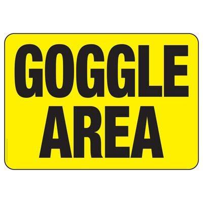 Vivityobert Warnschilder für Schutzbrillen und Wohnungsgegenstände aus Metall mit Gefahrenhinweis, 20,3 x 30,5 cm