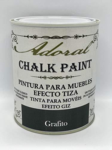 Adoral - Chalk Paint Pintura para muebles Efecto Tiza 750 ml (Grafito)