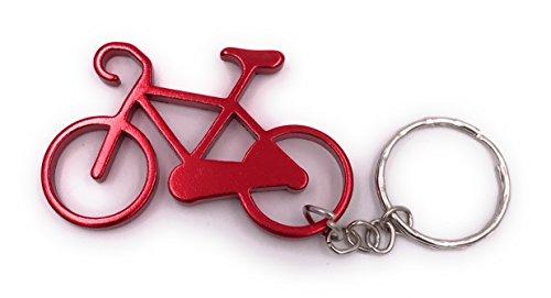 H-Customs Fahrrad aus Metall rot Anhänger Schlüsselanhänger Anhänger