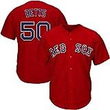 GBY Uniforme de Baseball Masculin, Red Sox 50# Betts Jersey de Baseball à Droite, Benny...
