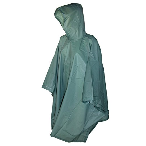 Totes Hunter Green Adult Rain Ponch
