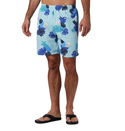 Columbia Big Dippers - Pantalones Cortos de Agua para Hombre, Hombre, 1768851, Sky Blue Tropic, Extra-Large